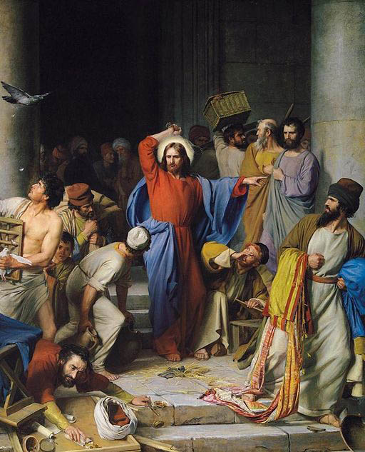 Carl Heinrich BLOCH - Gesù caccia i mercanti dal tempio