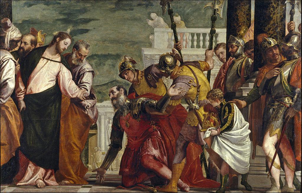 Cristo e il centurione - Paolo Veronese