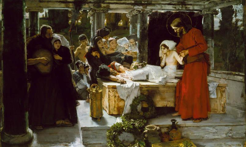 Gesù risurrezione di una bambina, Albert von Keller