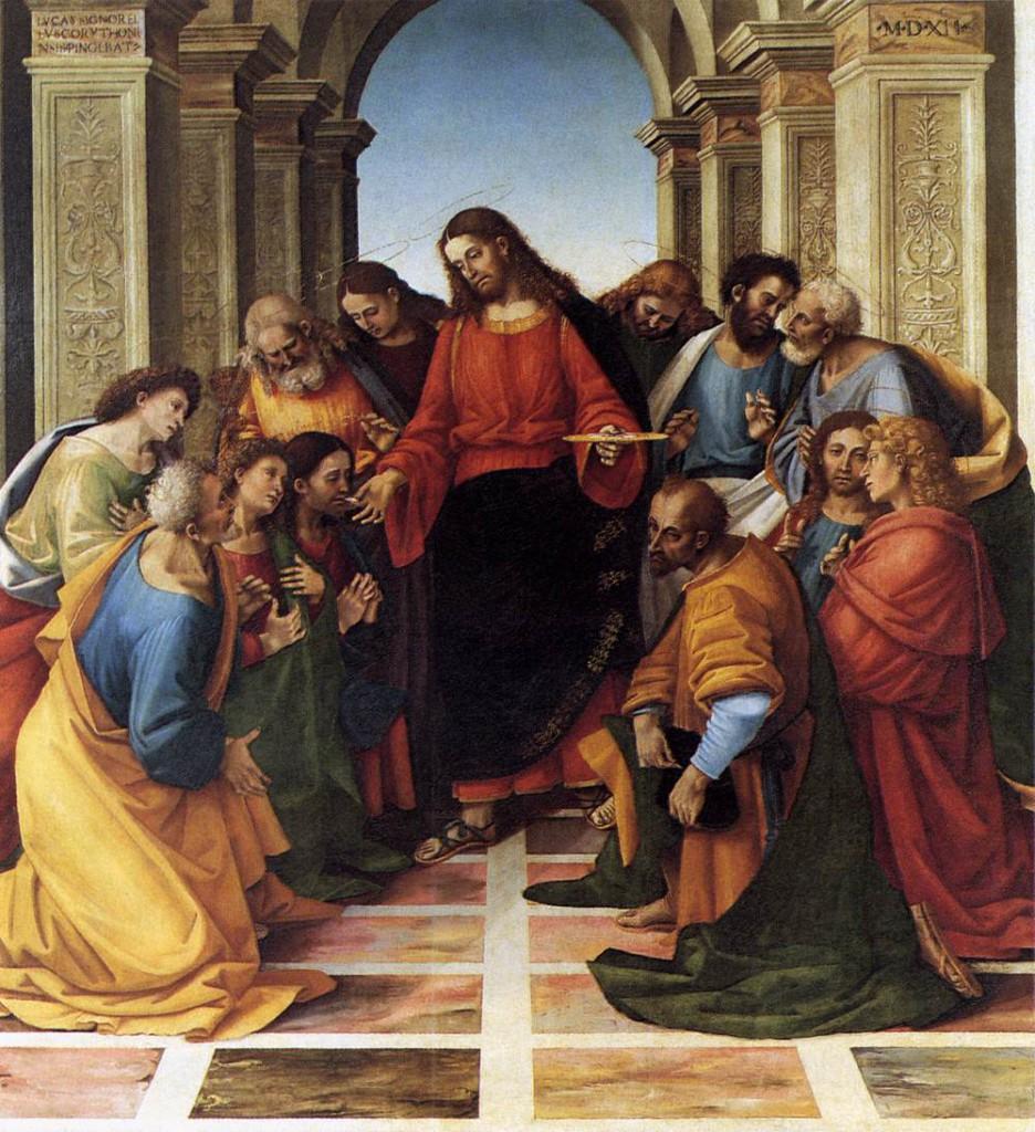 Luca Signorelli - comunione con gli apostoli