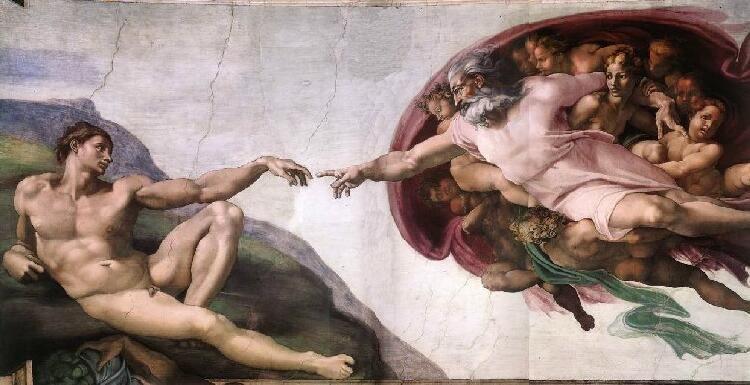 Michelangelo Buonarroti. La creazione di Adamo