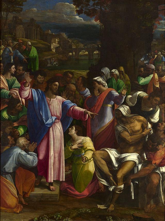 Sebastiano del Piombo - la resurrezione di Lazzaro