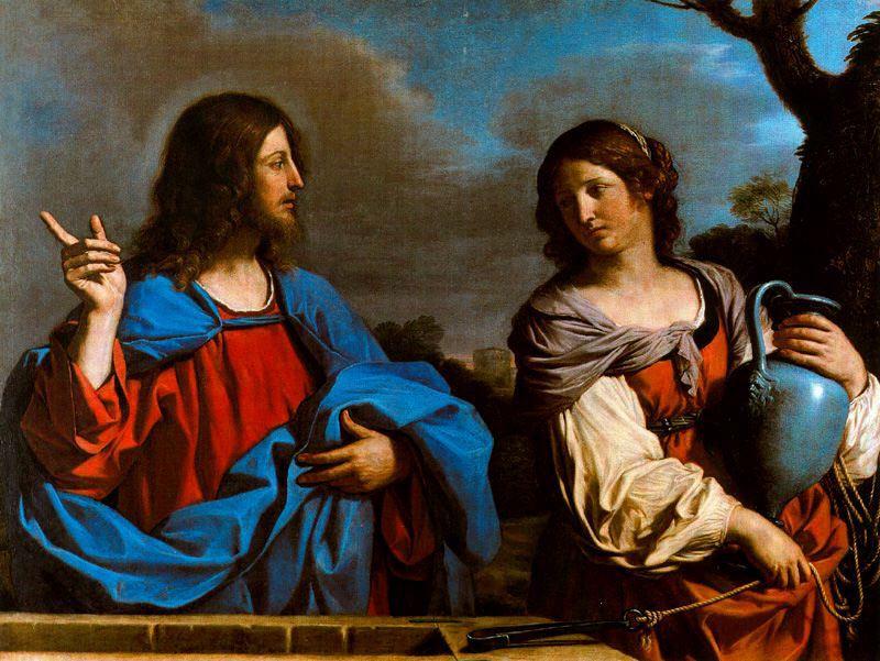 Gesù e la samaritana - Guercino