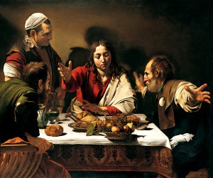 Caravaggio - Cena in Emmaus - National Gallery, Londra