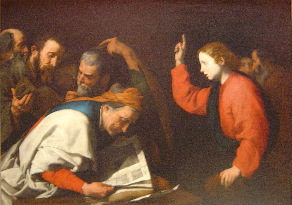 Gesù nel tempio - Jusepe de Ribera (Spagnoletto)
