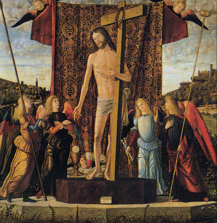 Vittore carpaccio, cristo tra quattro angeli con gli strumenti della Passione