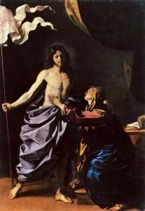 Guercino: Apparizione di Cristo risorto alla madre; 1629