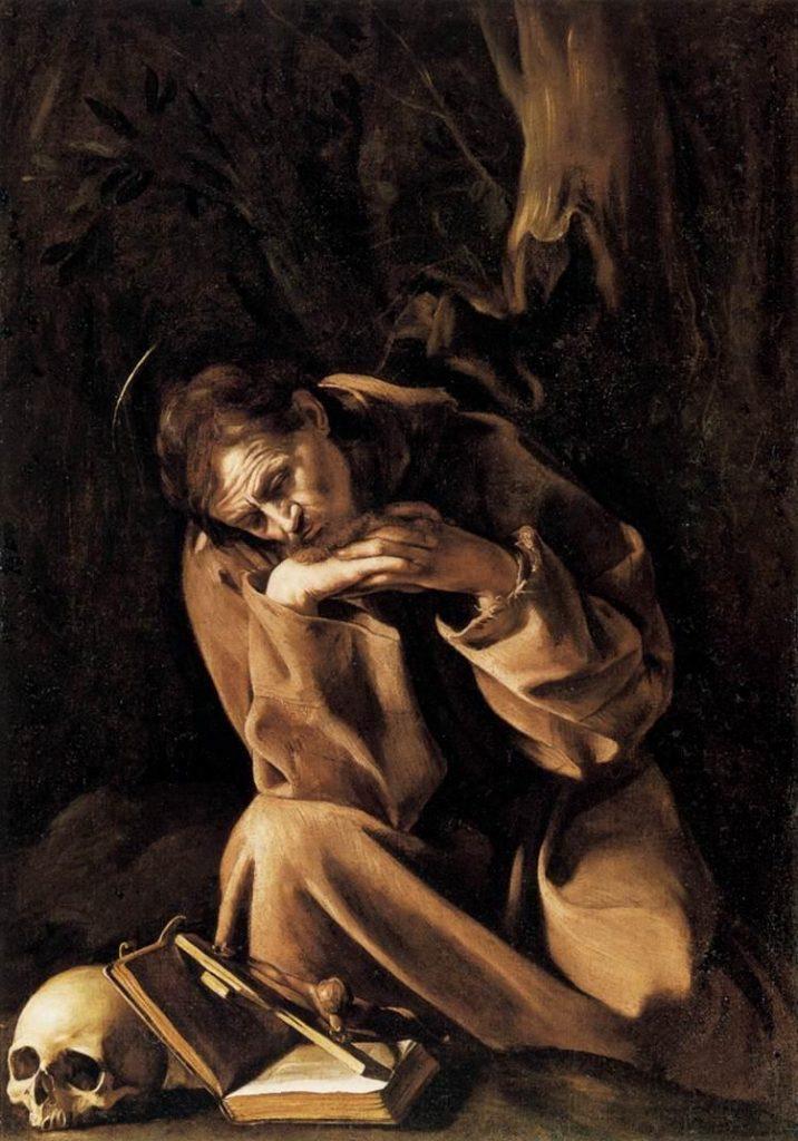 San Francesco in meditazione (Caravaggio Cremona)