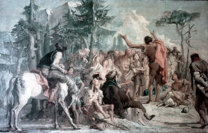 Giovanni Domenico Tiepolo - Predicazione di Giovanni Battista