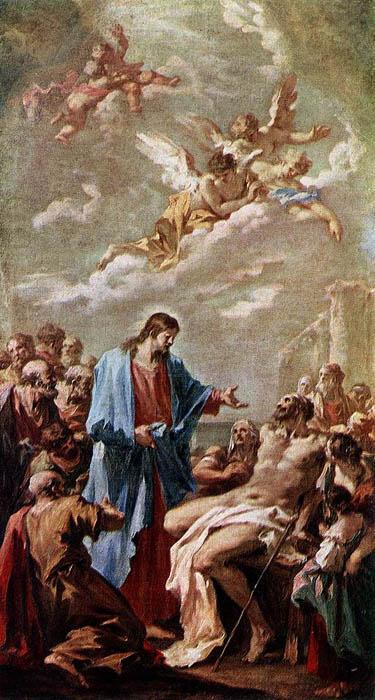 Gesù guarisce il paralitico - Giovanni Antonio Pellegrini