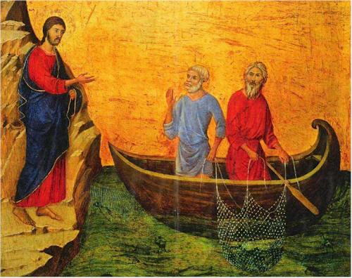 Duccio di Buoninsegna: Vocazione di Pietro e Andrea