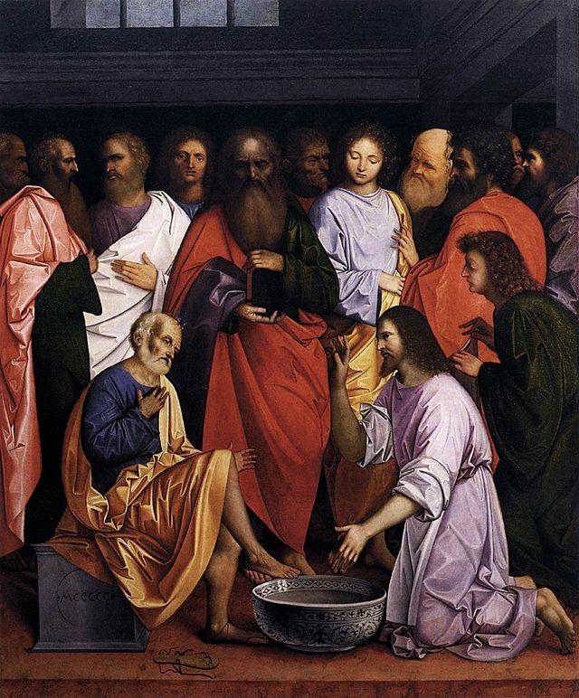Giovanni Agostino da Lodi - Cristo lava i piedi