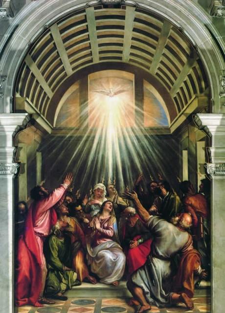 Pentecoste cristiana di Tiziano Vecellio