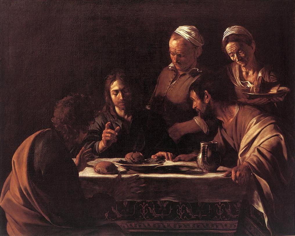Caravaggio - cena in Emmaus - Milano, Brera