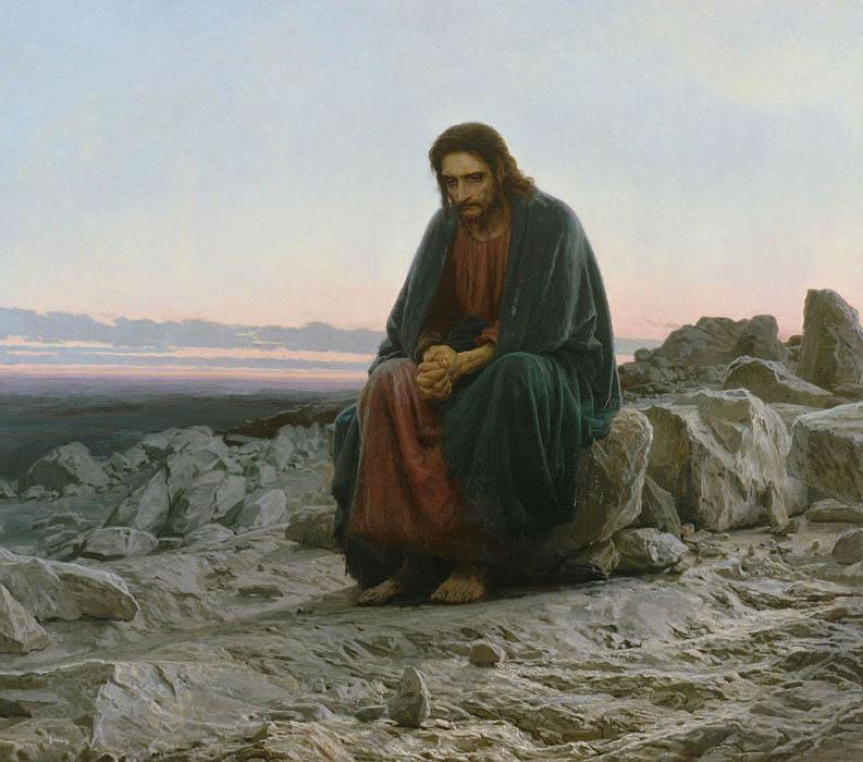 Gesù nel deserto - Ivan Kramskoï