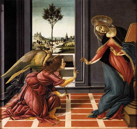 L'Annunciazione di Sandro Botticelli