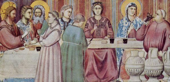 Gesù alle nozze di Cana (Giotto, Cappella degli Scrovegni di Padova).