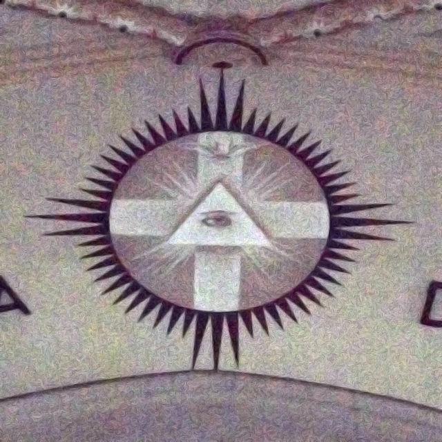 Raffigurazione della Trinità nella Chiesa Sagrada Família di Porto Alegre